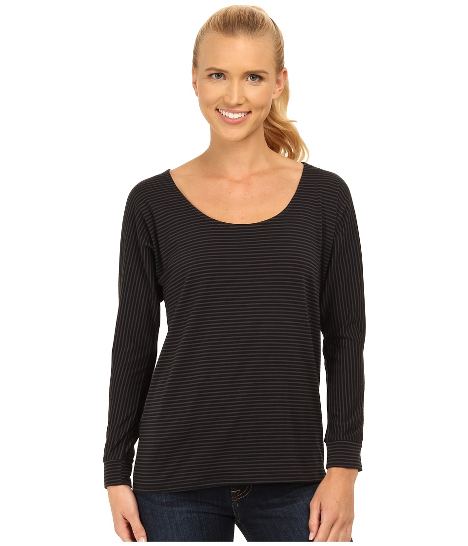Carve Designs - Cedars Dolman Sleeve Top (Black Stripe) Women's Long Sleeve Pullover