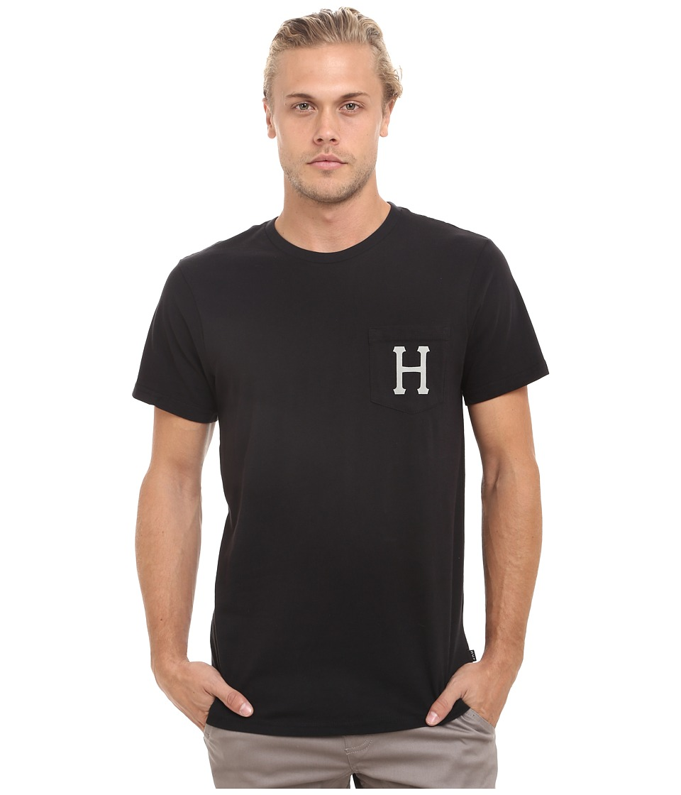 HUF - Classic H Pocket Tee (Black) Men's T Shirt