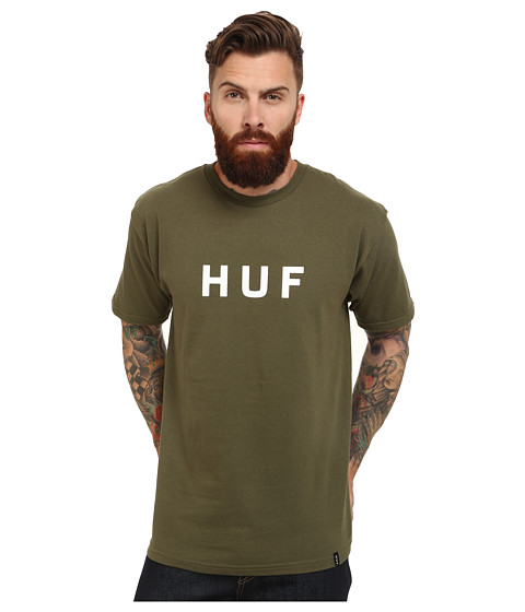 HUF - Original Logo Tee (Olive) Men's T Shirt