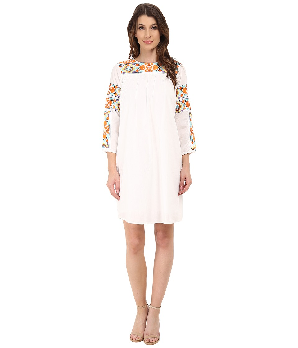 KAS New York - Pera Dress with Embroidery (White) Women