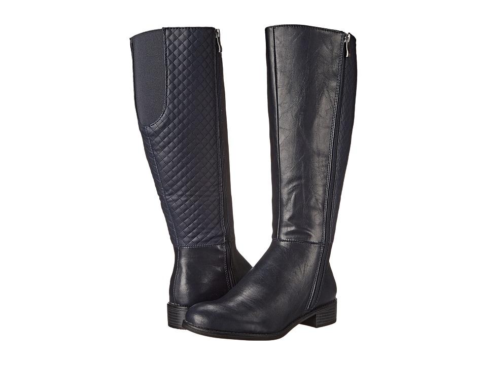 LifeStride - Sabella Wide Shaft (Navy) Women's Shoes