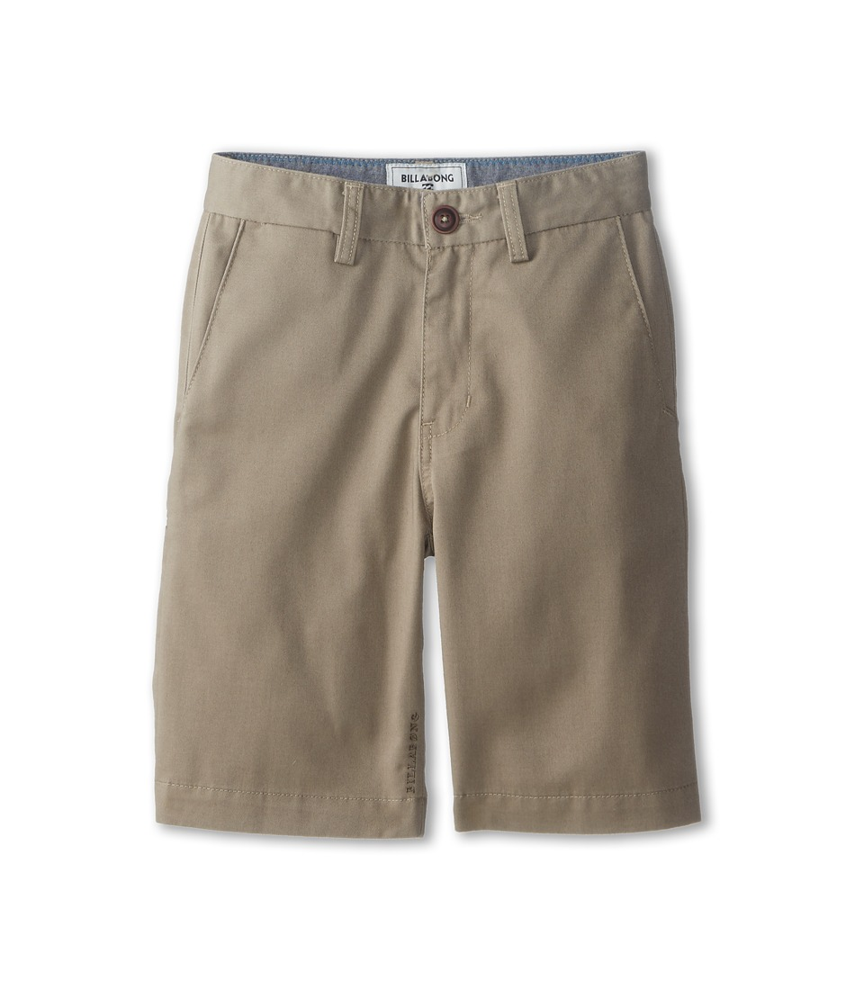Billabong Kids - Carter Walkshorts (Big Kids) (Dark Khaki) Boy's Shorts