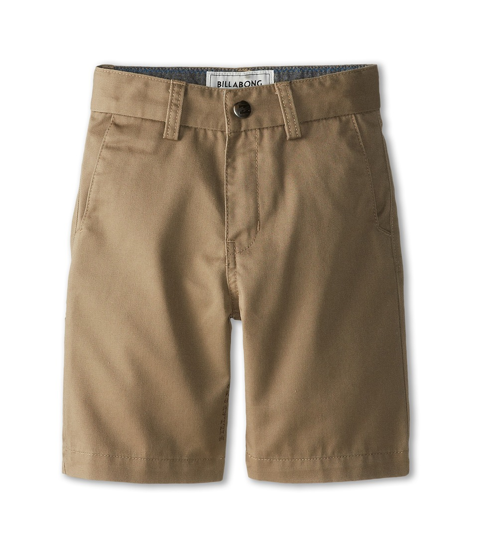 Image of Billabong Kids - Carter Walkshorts (Toddler/Little Kids) (Dark Khaki) Boy's Shorts