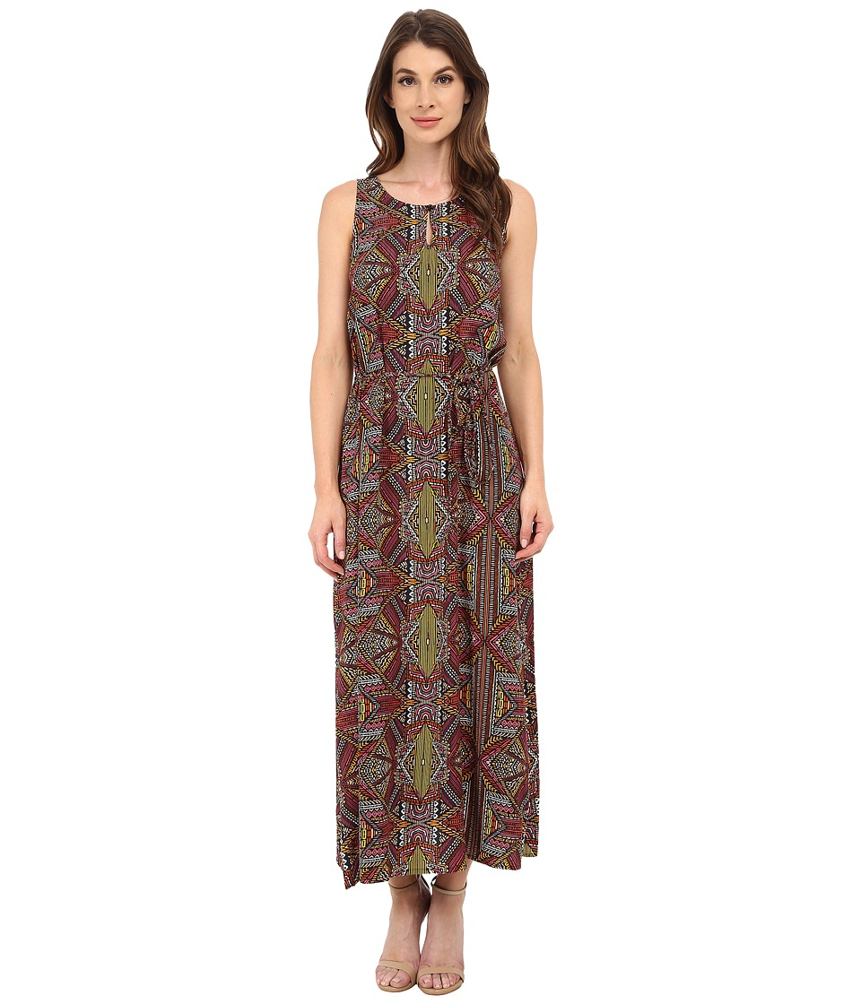 TWO by Vince Camuto - Sleeveless Tribal Beats Keyhole D/S Maxi (Rich Black) Women