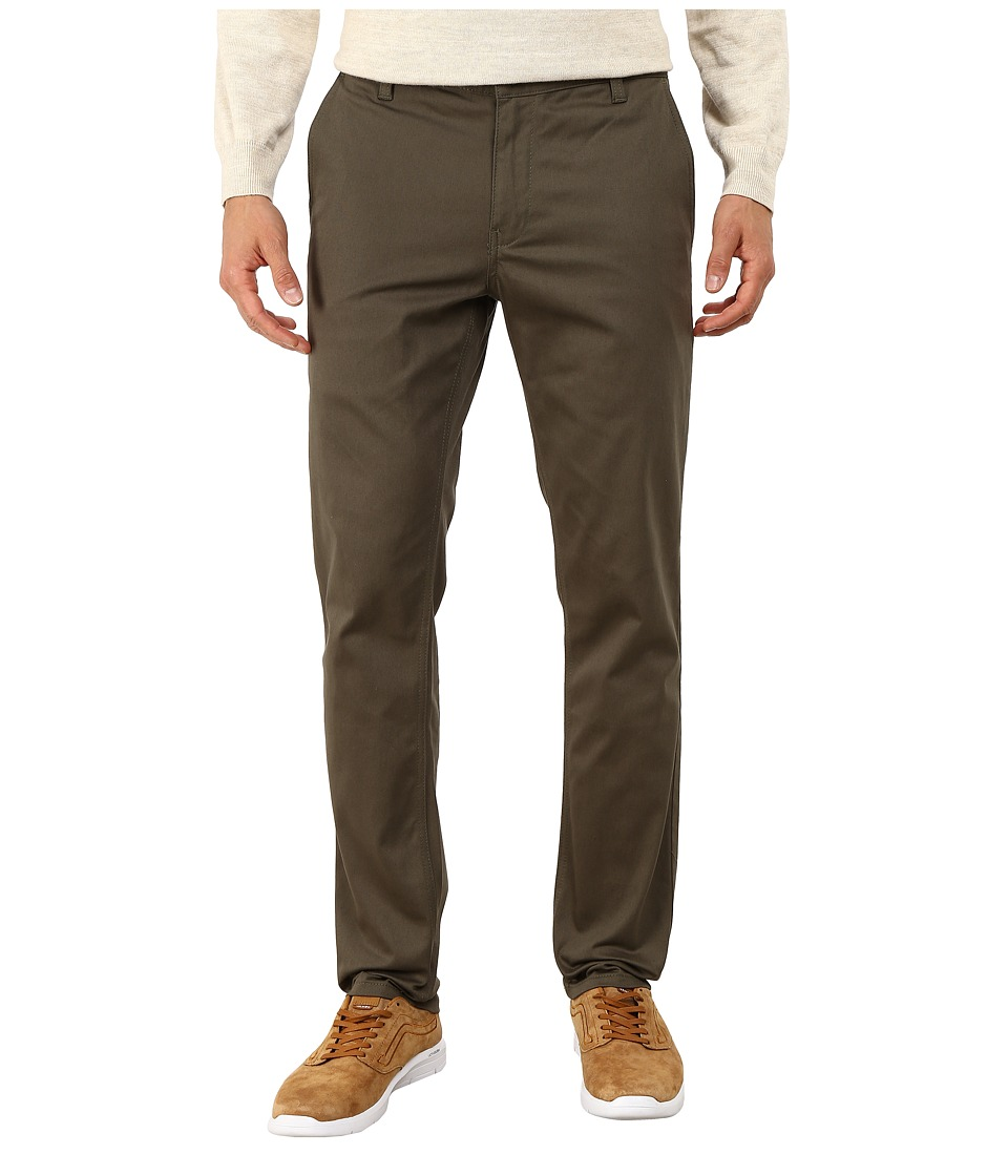 HUF - Fulton Chino Slim Pants (Military) Men's Casual Pants