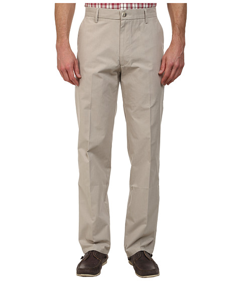 Dockers Men's - Signature Khaki D2 Straight Fit Flat Front (Olson A Stripe - Sand Dune) Men's Casual Pants