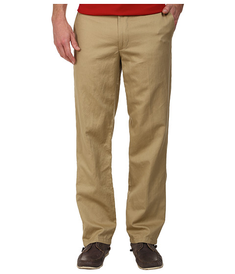 Dockers Men's - Signature Khaki D2 Straight Fit Flat Front (Linen - Desert Sand) Men's Casual Pants