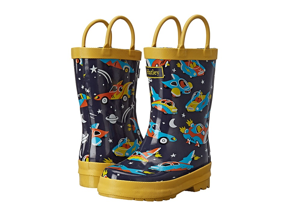 Hatley Kids - Rainboots (Toddler/Little Kid) (Space Cars) Boys Shoes