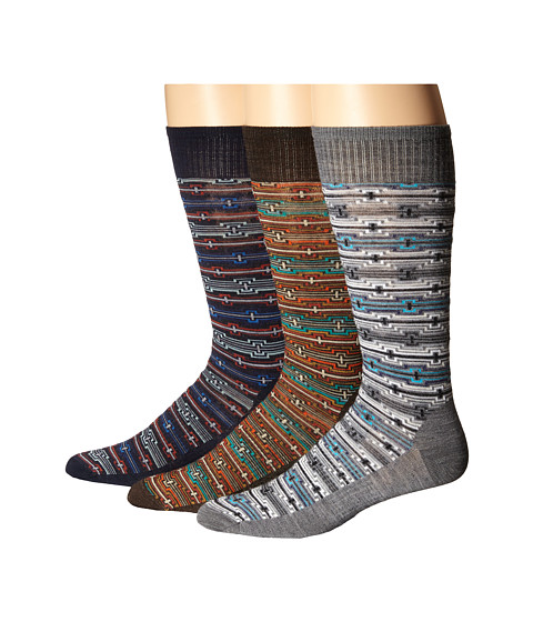 Smartwool - Ethno Illusion 3-Pack (Chestnut/Deep Navy/Medium Gray) Men
