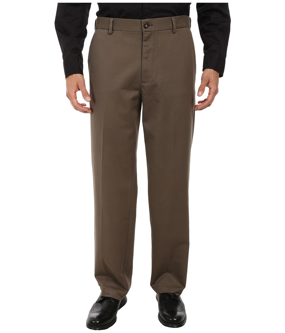 Dockers Men's - Comfort Waist Khaki D3 Classic Fit Flat Front (Dark Pebble) Men's Casual Pants