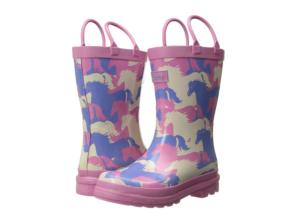 Hatley Kids - Rainboots (Toddler/Little Kid) (Puzzle Piece Horses) Girls Shoes
