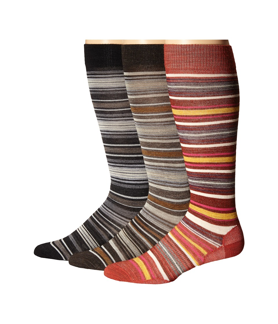 Smartwool - Arabica II 3-Pack (Caramel/Moab Rust/Black) Women's Crew Cut Socks Shoes