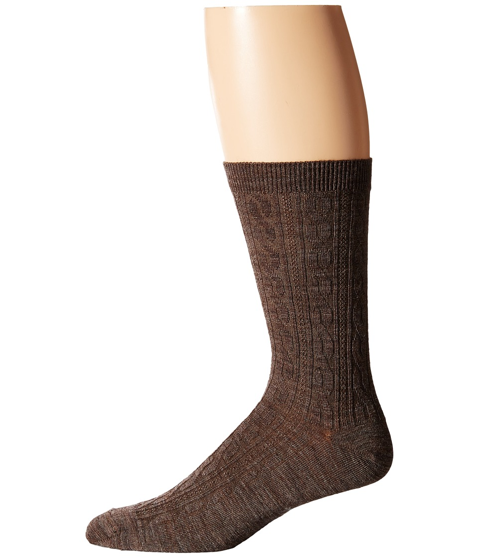 Smartwool - Cable II 3-Pack (Taupe/Taupe/Taupe) Women's Crew Cut Socks Shoes