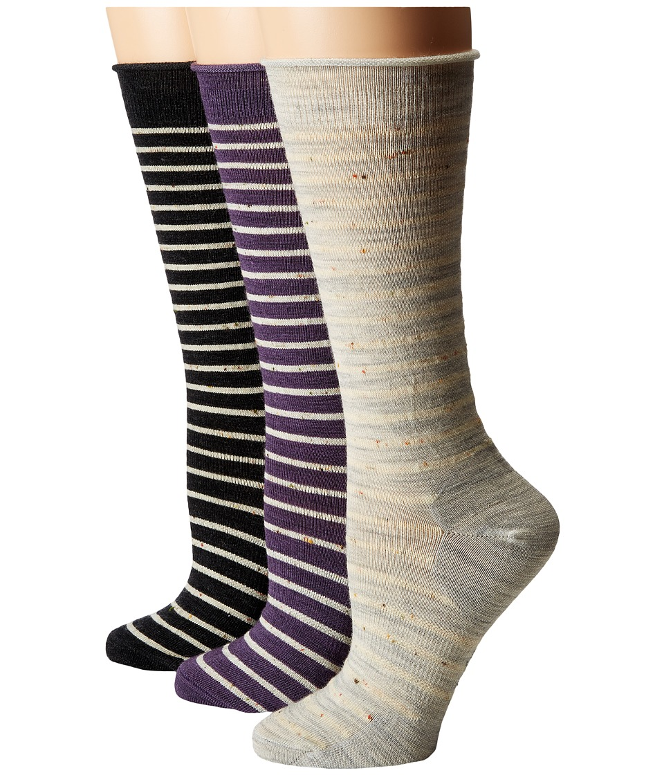 Smartwool - Vista View 3-Pack (Ash Heather/Desert Purple/Charcoal) Women's Crew Cut Socks Shoes