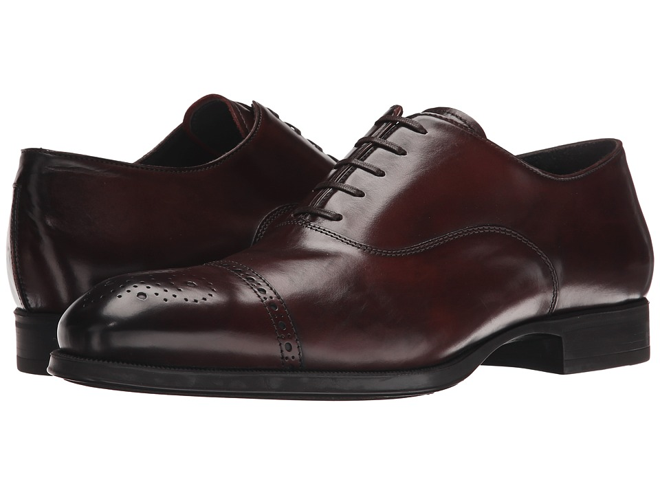 To Boot New York - Justin (Brown) Men's Lace Up Cap Toe Shoes
