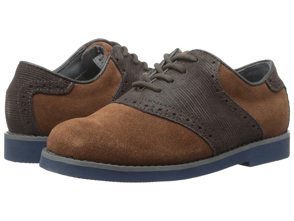 Florsheim Kids - Kennett Jr. (Toddler/Little Kid/Big Kid) (Mocha/Navy Sole) Boys Shoes