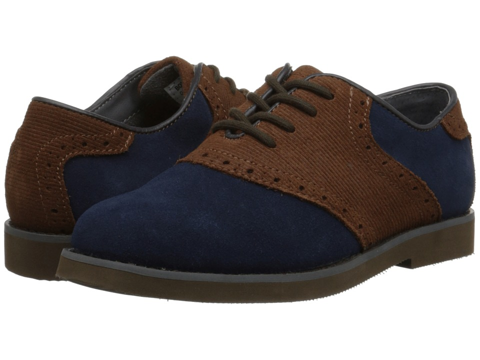 Florsheim Kids - Kennett Jr. (Toddler/Little Kid/Big Kid) (Navy Multi/Dark Brown Sole) Boys Shoes