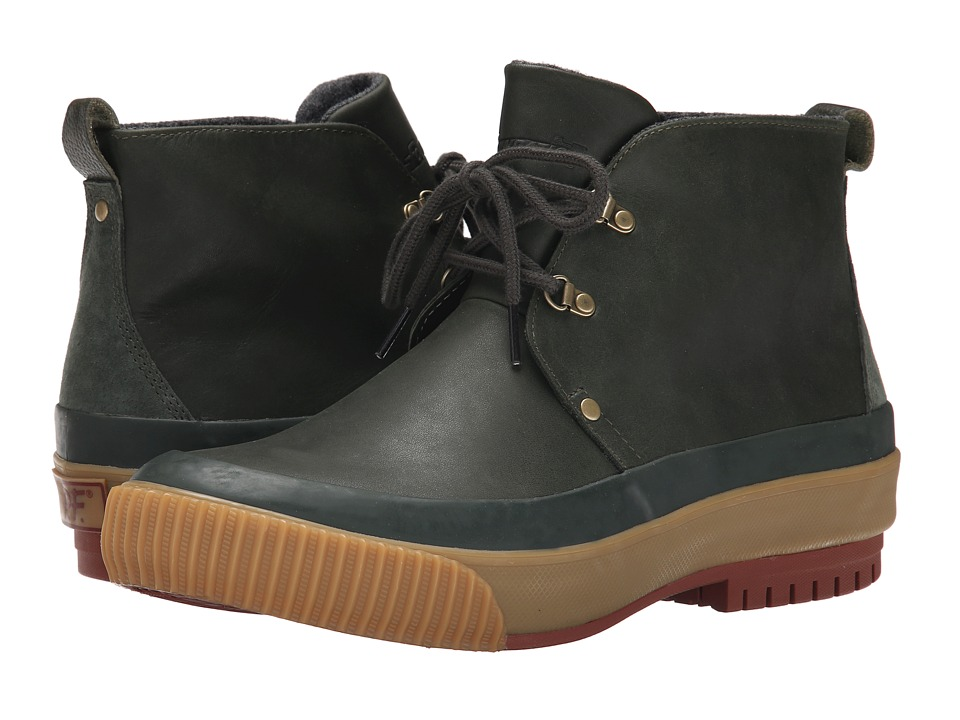 PF Flyers - Hi Press (Defense Green Leather/Wool) Men's Boots
