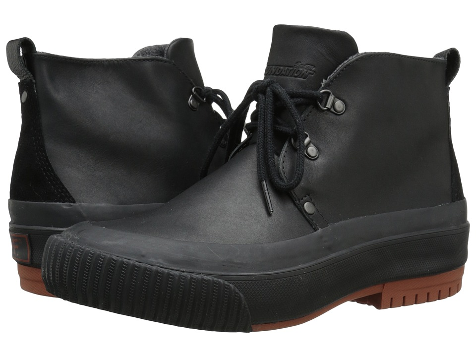 PF Flyers - Hi Press (Black Leather/Wool) Men's Boots