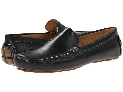Ron White - Noah (Black Antiqued Calf) Men's Slip-on Dress Shoes