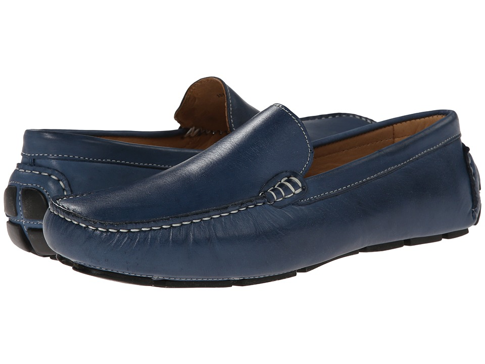 Ron White - Noah (Jeans Antiqued Calf) Men's Slip-on Dress Shoes