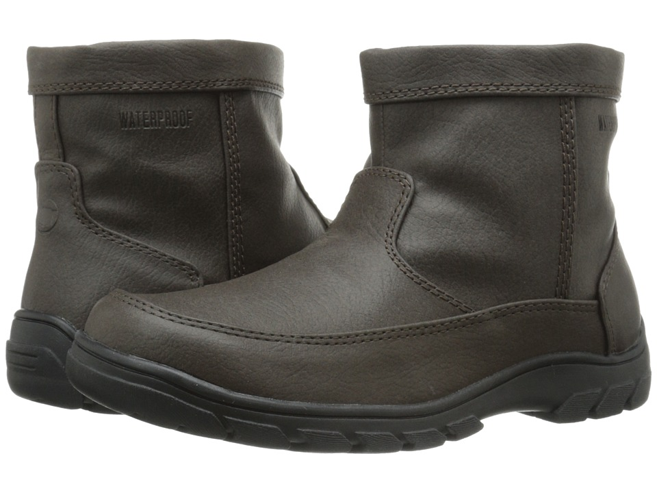 Florsheim Kids Trektion Waterproof Zip Boot Jr. (Toddler/Little Kid/Big Kid) (Brown) Boys Shoes