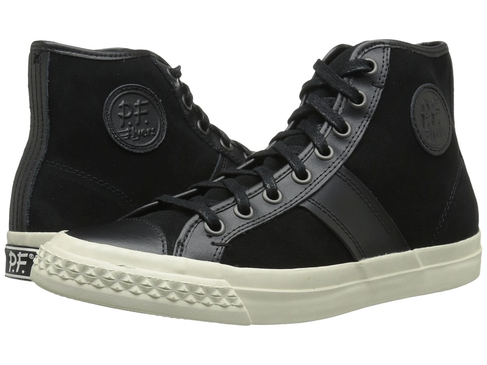 PF Flyers - Rambler (Black Suede/Leather) Men's Lace up casual Shoes