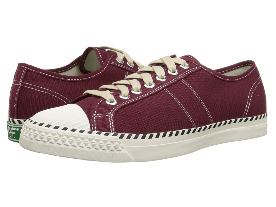 PF Flyers - Rambler Lo (Burgundy Canvas) Men's Lace up casual Shoes