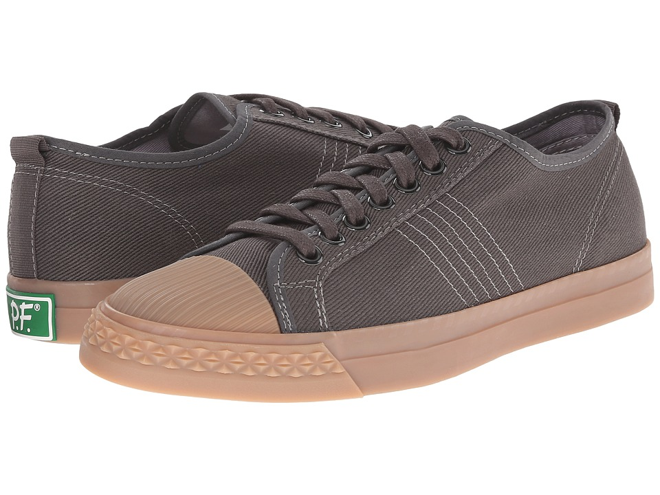 PF Flyers - Rambler Lo (Raven/Gum Chino Twill) Men's Lace up casual Shoes