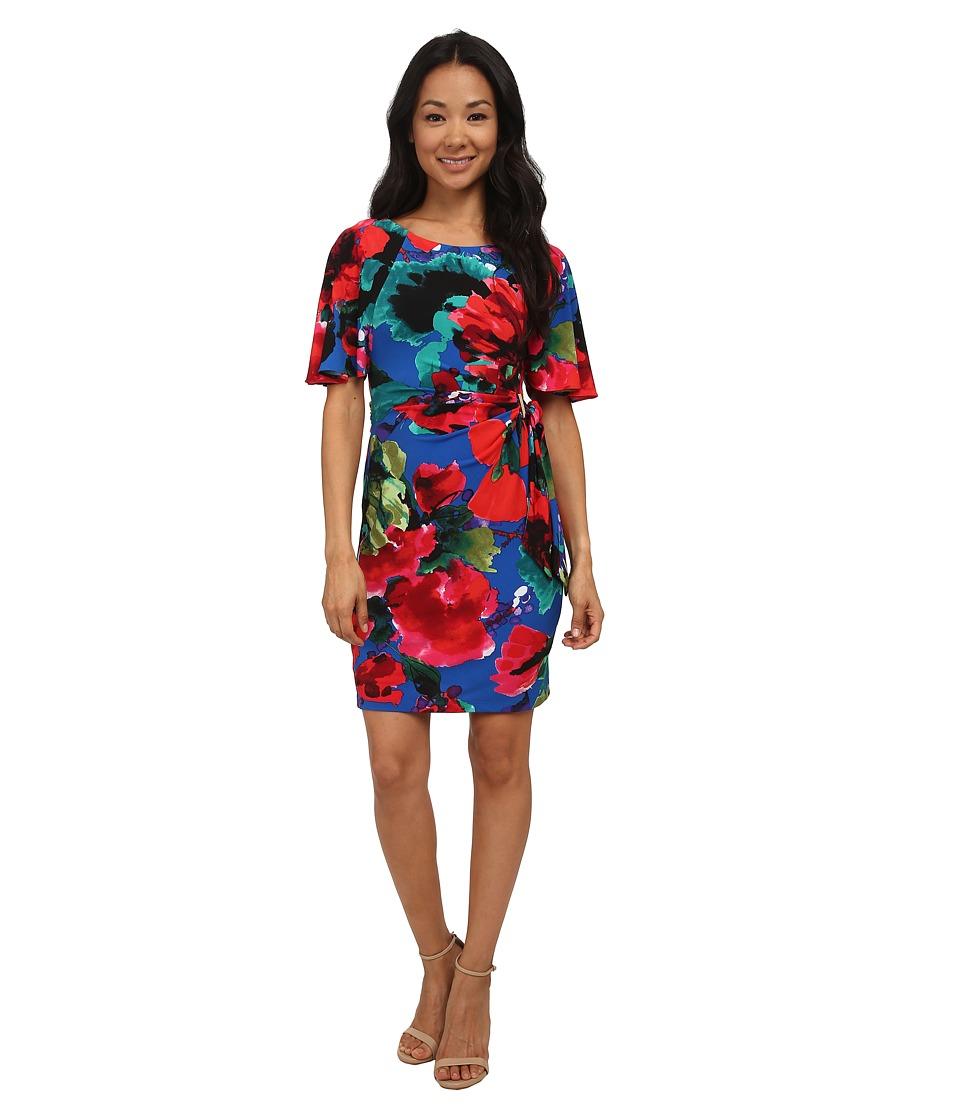 Tahari by ASL Petite - Petite Juliet - P Dress (Royal/Lipstick) Women's Dress