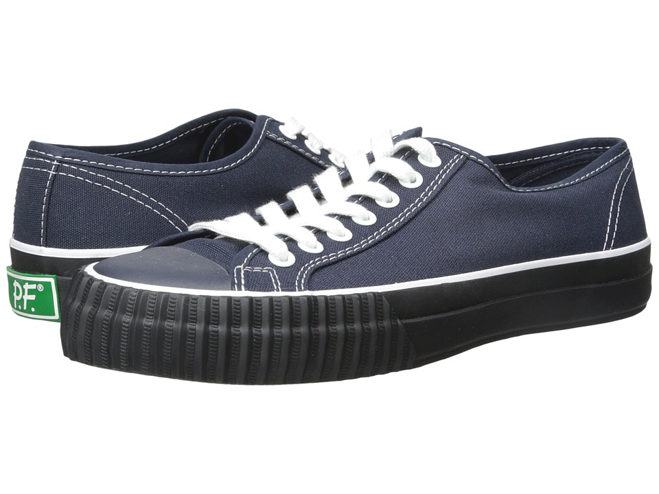 PF Flyers - Center Lo (Navy/Black Canvas) Men
