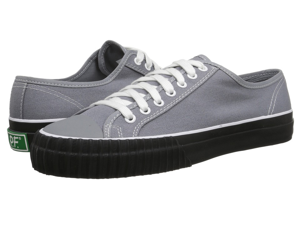 PF Flyers - Center Lo (Grey/Black Canvas) Men's Lace up casual Shoes