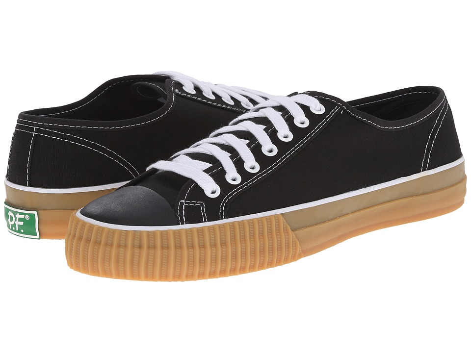 PF Flyers - Center Lo (Black/Gum Canvas) Men's Lace up casual Shoes