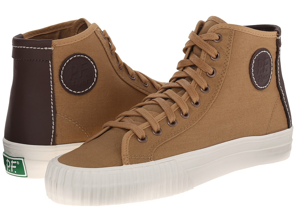 PF Flyers - Center Hi (Veneer Twill/Leather) Men's Shoes