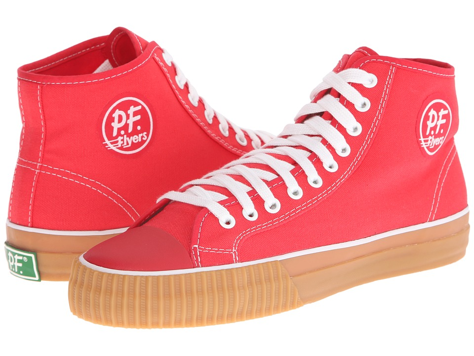 PF Flyers - Center Hi (Red/Gum Canvas) Men's Shoes