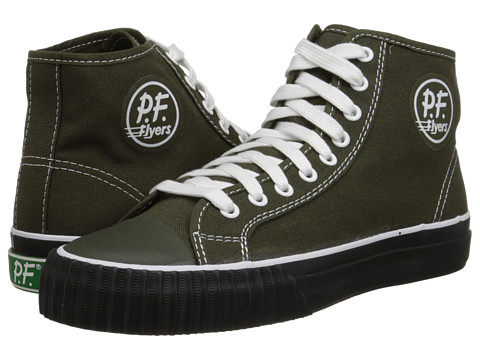 PF Flyers - Center Hi (Olive/Black Canvas) Men's Shoes