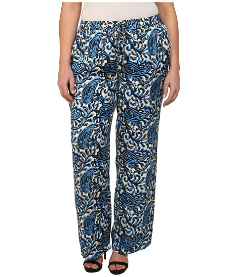 MICHAEL Michael Kors - Plus Size Easy Wideleg Pants (Heritage Blue) Women's Casual Pants