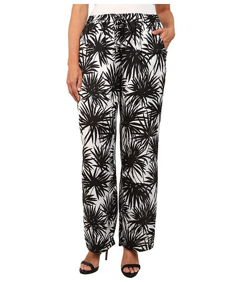 MICHAEL Michael Kors - Plus Size Printed Wide Leg Pants (Black) Women