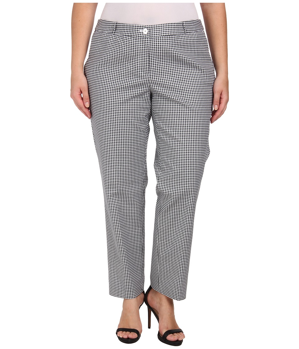 MICHAEL Michael Kors - Plus Size Plaid Miranda Pants (Black) Women's Casual Pants