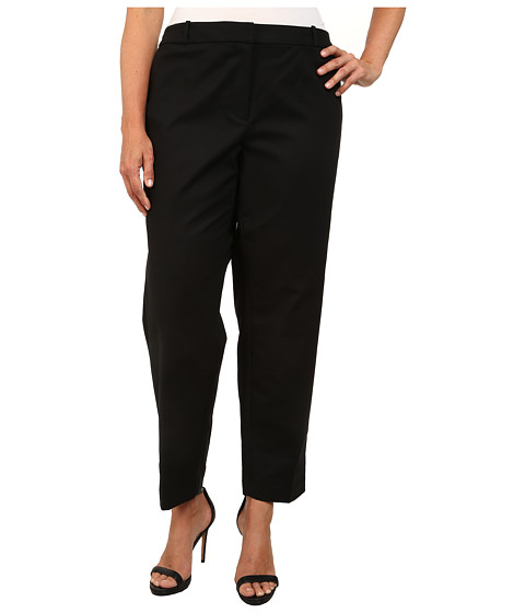 MICHAEL Michael Kors - Plus Size Stretch Cotton Welles Ankle (Black 1) Women's Casual Pants