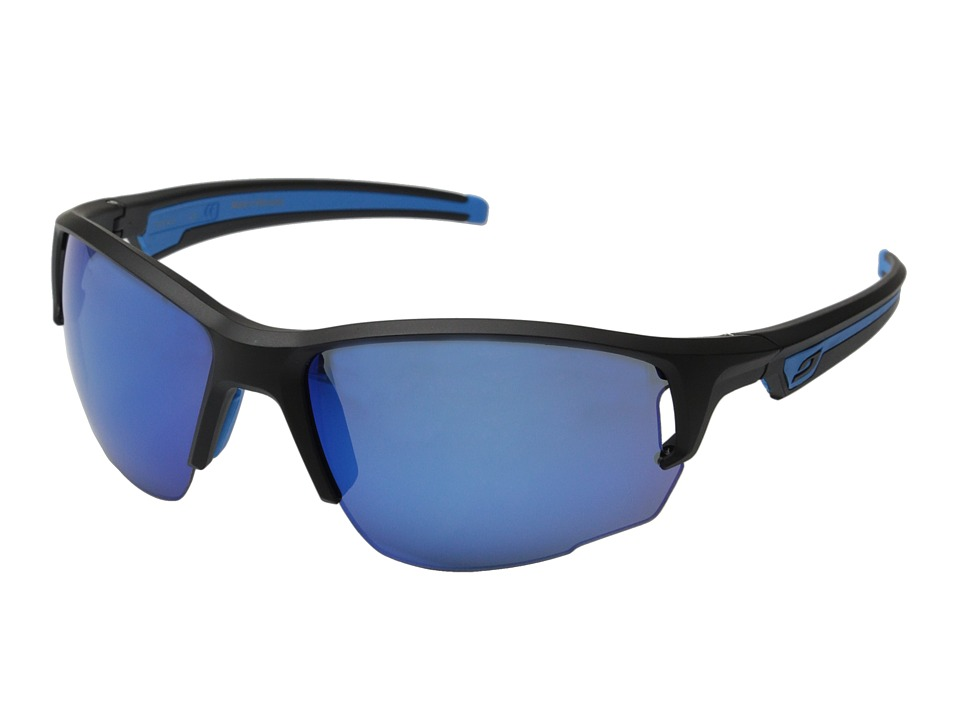 Julbo Eyewear - Venturi Performance Sunglasses (Matte Black/Blue) Sport Sunglasses