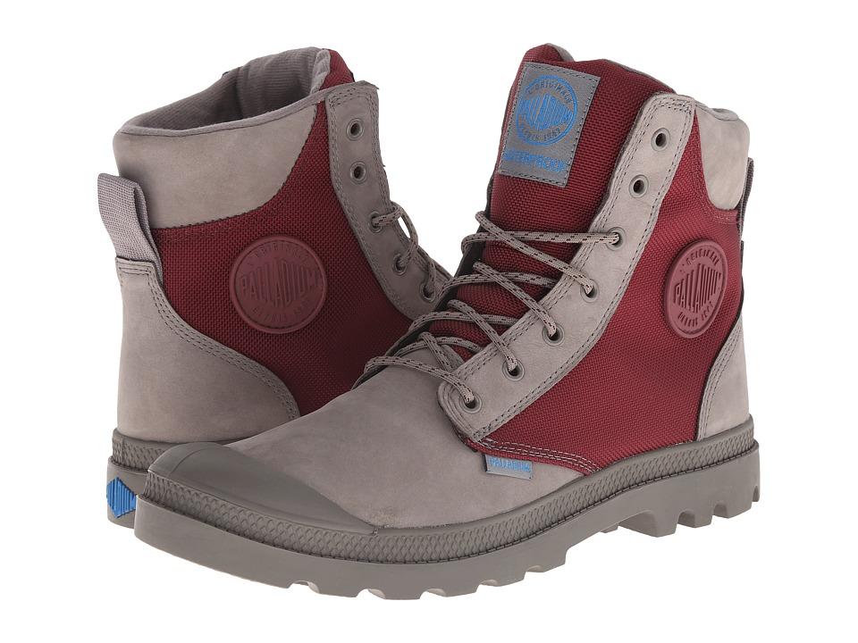 Palladium Pampa Sport Cuff WPN (Moss Gray/Burgundy) Boots