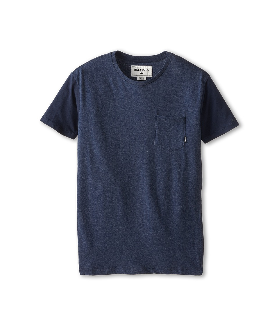 Billabong Kids - Zenith Short Sleeve Crew (Big Kids) (Indigo Heather) Boy's T Shirt