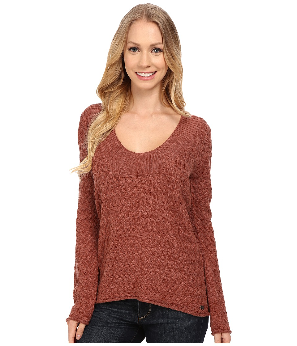 Carve Designs - Miley V-Neck (Sienna) Women's Sweater