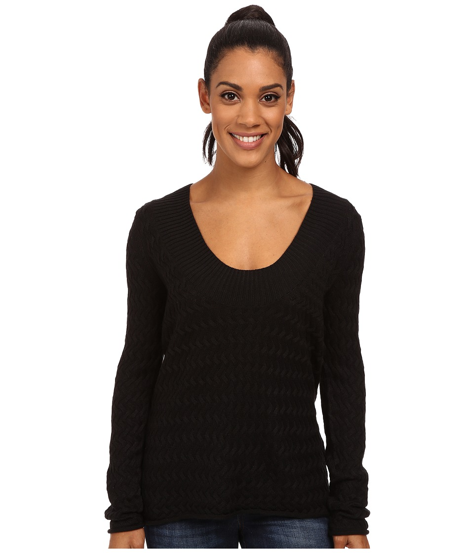 Carve Designs - Miley V-Neck (Black) Women's Sweater