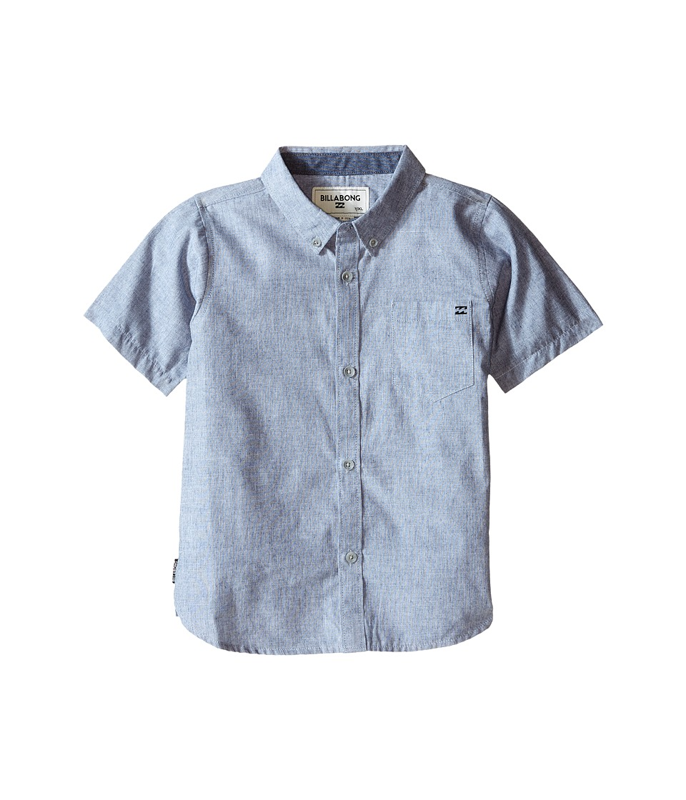 Billabong Kids - All Day S/S Woven (Toddler/Little Kids) (Navy) Boy's Short Sleeve Button Up