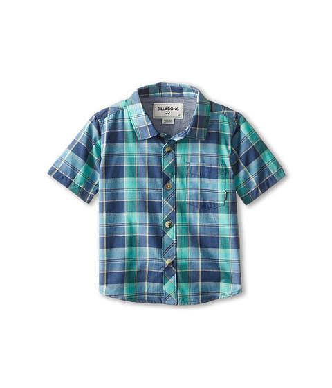 Billabong Kids - Midway Short Sleeve Woven (Toddler/Little Kids) (Indigo) Boy