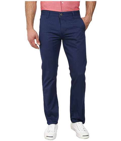 Dockers Men's - Alpha Khaki Pant (MC Caffrey B Mini Print - Estate Blue) Men's Casual Pants