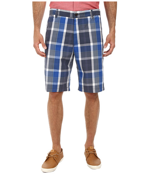 Dockers Men's - Core Flat Front Short (Wagner A Large Cscale Plaid - Olympian Plaid) Men's Shorts