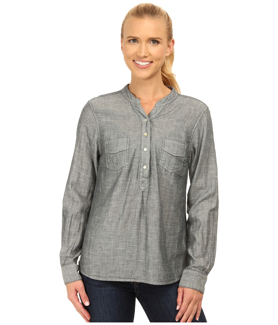 Carve Designs - Dylan Chambray Shirt (Deep Sea Chambray) Women's Long Sleeve Pullover